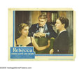 "Movie Posters:Hitchcock, Rebecca (United Artists, 1940). Lobby Cards (2) (11"" X 14""). JoanFontaine and Judith Anderson are both featured in these tw... (2Items)"