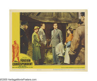 "Foreign Correspondent (United Artists, 1940). Lobby Cards (2) (11"" X 14""). In this Alfred Hitchcock suspense f..."