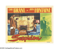 """Suspicion (RKO, 1941). Lobby Cards (2) (11"""" X 14""""). Unbelievably, of all of the great actresses in the many de..."""
