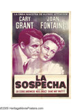 """Movie Posters:Hitchcock, Suspicion (Astor, R-1940s). Argentinian One Sheet (29.5"""" X 43""""). After her marriage to playboy Johnny Aysgarth (Cary Grant),..."""
