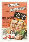 """Movie Posters:Comedy, Mr. & Mrs. Smith (RKO, 1941). One Sheet (27"""" X 41""""). AlfredHitchcock's foray into comedy found Carole Lombard and Robert Mo..."""