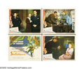 "Movie Posters:Mystery, Saboteur (Universal, 1942). Lobby Card (4) (11"" X 14""). Whenfalsely accused of sabotage at an aircraft manufacturing plant,...(4 items)"
