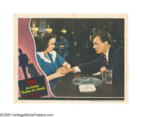 """Shadow of a Doubt (Universal, 1943). Lobby Card (11"""" X 14""""). Many of Alfred Hitchcock's films confront the qua..."""