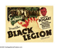 "Movie Posters:Crime, Black Legion (Warner Brothers, 1937). Half Sheet (22"" X 28"") StyleB. What started off as another ""B"" programmer from Warner..."