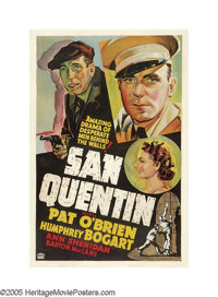 """San Quentin (Warner Brothers, 1937). One Sheet (27"""" X 41"""") Other Company. While the official Warner Brothers o..."""