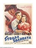 "Movie Posters:Crime, Dead End (United Artists, 1948 Post-War Release). Italian One Sheet(27"" X 39""). Although the film was released in 1937, it ..."