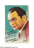 """Movie Posters:Crime, Kid Galahad (Warner Brothers, 1937). French One Sheet (25.5"""" X39""""). Edward G. Robinson stars as a fight promoter who signs ..."""