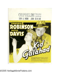 "Movie Posters:Crime, Kid Galahad (Warner Brothers, 1937). Jumbo Window Card (22"" X 28"").Edward G. Robinson and Bette Davis star in this picture ..."