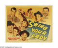 """Movie Posters:Comedy, Swing Your Lady (Warner Brothers, 1938). Half Sheet (22"""" X 28"""")Style B. Legend has it that Bogart claimed he was never in t... (1)"""