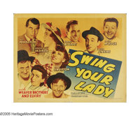 """Swing Your Lady (Warner Brothers, 1938). Half Sheet (22"""" X 28"""") Style B. Legend has it that Bogart claimed he..."""