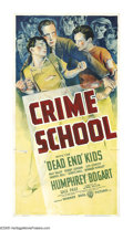"Movie Posters:Crime, Crime School (Warner Brothers, 1938). Three Sheet (41"" X 81"").After the stunning success of ""Dead End,"" Jack Warner bought ..."