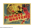 """Movie Posters:Crime, Racket Busters (Warner Brothers, 1938). Half Sheets (2) (22"""" X 28"""")Style A and B. While the style A half sheet does not dep... (2Items)"""