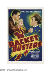 """Racket Busters (Warner Brothers, 1938). One Sheet (27"""" X 41""""). When the headlines in New York City screamed th..."""