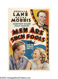 """Men Are Such Fools (Warner Brothers, 1938). One Sheet (27"""" X 41"""") Other Company. In a rare departure from his..."""