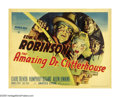 "Movie Posters:Crime, The Amazing Dr. Clitterhouse (Warner Brothers, 1938). Half Sheet(22"" X 28"") Style B. Humphrey Bogart, Edward G. Robinson an..."