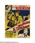 "Movie Posters:Crime, The Amazing Dr. Clitterhouse (Warner Brothers, 1938). French (47"" X63""). Edward G. Robinson portrays a psychiatrist out to ..."