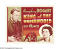 """Movie Posters:Crime, King of the Underworld (Warner Brothers, 1939). Half Sheet (22"""" X28"""") Other Company. Humphrey Bogart was cast as a gangster..."""