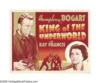 "King of the Underworld (Warner Brothers, 1939). Half Sheet (22"" X 28"") Other Company. Humphrey Bogart was cast..."