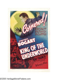 "Movie Posters:Crime, King of the Underworld (Warner Brothers, 1939). One Sheet (27"" X41""). If there was ever an epitaph for Humphrey Bogart, the..."
