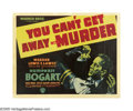 "Movie Posters:Crime, You Can't Get Away With Murder (Warner Brothers, 1939). Half Sheet(22"" X 28"") Style A. Billy Halop has to roll with the pun..."