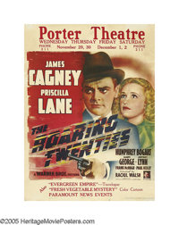 "Roaring Twenties (Warner Brothers, 1939). Jumbo Window Card (28"" X 22""). James Cagney stars in one of the grea..."