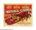 "Movie Posters:Crime, Invisible Stripes (Warner Brothers, 1939). Half Sheet (22"" X 28"")Style B. George Raft, as a former convict, can't get a job..."