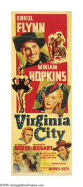 "Movie Posters:Western, Virginia City (Warner Brothers, 1940). Insert (14"" X 36""). DirectorMichael Curtiz demonstrated his flair for action in this..."
