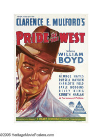 "Pride of the West (Paramount, 1938). Australian One Sheet (27"" X 40""). Released only three years after the wil..."