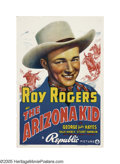 "Movie Posters:Western, The Arizona Kid (Republic, 1939). One Sheet (27"" X 41""). This onesheet ranks as the most desired poster for Roy Rogers fans..."
