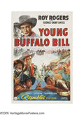 "Movie Posters:Western, Young Buffalo Bill (Republic, 1940). One Sheet (27"" X 41""). Before he became a burger king, Roy Rogers was King of the Cowbo..."