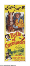 "Movie Posters:Western, Bells of Coronado (Republic, R-1956). Insert (14"" X 36"")Autographed. Roy Rogers is an insurance investigator on the trailo..."