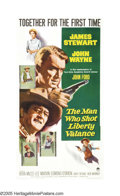 "Movie Posters:Western, The Man Who Shot Liberty Valance (Paramount, 1962). Three Sheet(41"" X 81""). ""When the legend becomes fact, print the legend..."