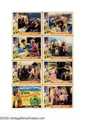 """Movie Posters:Western, Unknown Valley (Columbia, 1933). Lobby Card Set of 8 (11"""" X 14""""). Joe Gordon (Buck Jones) is riding in the desert looking fo... (8 Items)"""