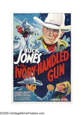 "Movie Posters:Western, The Ivory-Handled Gun (Universal, 1935). One Sheet (27"" X 41""). Buck Jones, ""The Screen's Ace Outdoor Star,"" was a well-know..."