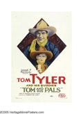 "Movie Posters:Western, Tom and His Pals (Paramount, 1926). One Sheet (27"" X 41""). Tom Tyler made a series of ""Tom and His Pals"" films for FBO with ..."