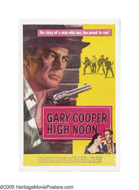 """High Noon (United Artists, 1952). One Sheet (27"""" X 41""""). Told in real time, this film follows retiring sheriff..."""