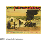 """Fighting Caravans (Paramount, 1931). Lobby Cards (4) (11"""" X 14""""). After co-starring with Marlene Dietrich in &..."""
