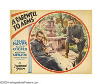 "A Farewell To Arms (Paramount, 1932). Lobby Card (11"" X 14""). Ernest Hemingway had little use for the film ada..."