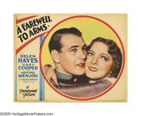 "A Farewell To Arms (Paramount, 1932). Lobby Card (11"" X 14""). For many reasons, Gary Cooper and Ernest Hemingw..."