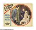 "Movie Posters:Drama, A Farewell To Arms (Paramount, 1932). Lobby Card (11"" X 14""). Based on the novel by Ernest Hemingway, Gary Cooper plays Lt. ..."