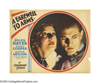 "A Farewell To Arms (Paramount, 1932). Lobby Card (11"" X 14""). This beautiful portrait card shares a similar ce..."
