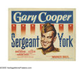 "Movie Posters:War, Sergeant York (Warner Brothers, 1941). Title Card and Lobby Card (11"" X 14""). ""Folks back home used to say I could shoot a r... (2 Items)"
