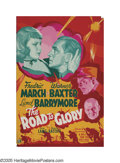 """Movie Posters:War, Road to Glory (20th Century Fox, 1936). Poster (40"""" X 60""""). WilliamFaulkner helped write this war story of a French company..."""