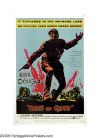 """Paths of Glory (United Artists, 1958). One Sheet (27"""" X 41"""".) Director Stanley Kubrick was very outspoken abou..."""