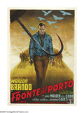 "Movie Posters:Drama, On the Waterfront (Columbia, 1954). Italian (55"" X 77""). Elia Kazandirected one of the greatest films in movie history; a g..."
