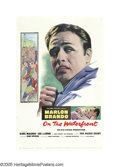 "Movie Posters:Drama, On the Waterfront (Columbia, 1954). One Sheet (27"" X 41""). MarlonBrando is Terry Malloy, an ex-prize fighter struggling aga..."