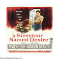"Movie Posters:Drama, A Streetcar Named Desire (Warner Brothers, 1951). Six Sheet (81"" X 81""). Marlon Brando became the movies' first rebel when h..."