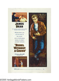 "Rebel Without a Cause (Warner Brothers, 1955). Poster (40"" X 60""). Nicholas Ray's movie about teen alienation..."