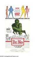 "Movie Posters:Action, Dr. No (United Artists, 1962). Three Sheet (41"" X 81""). James Bond,Secret Agent 007, was first introduced to audiences via ..."