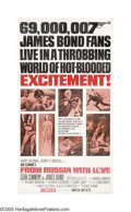 "Movie Posters:Action, From Russia With Love (United Artists, 1963). Three Sheet (41"" X81""). After the incredible success of ""Dr. No,"" producers A..."